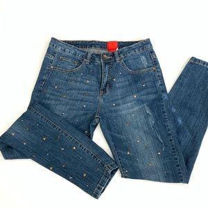 V Cristina Stud Embellished Jeans Size 8